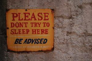 no-naps-sign
